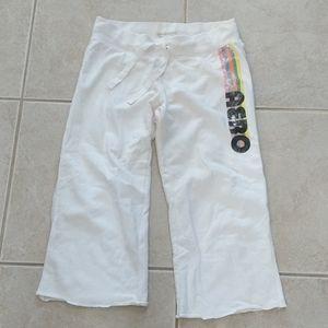 Aeropostale medium white jogging pant capris